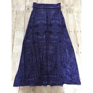 LuLaRoe Skirts - NWT LuLaRoe Purple Print Maxi Skirt